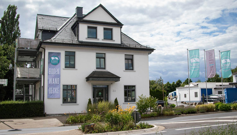 Frontansicht der Raumgestaltung Schmidt in Montabaur